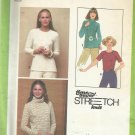 Vintage Time Saver Stretch Knit Pattern-Misses Pullover Tops-Sz 10-12-14