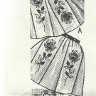 Vintage Cross Stitch Rose Designs for Making Two Aprons-Design 7016