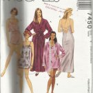 Pattern-Misses Robe -Nightgown-Camisole & Pull On Shorts     Xsm-Sml-Med