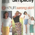 Pattern-2 Hour Sarong Skirt -Misses Sarong Skirt in 4 Lengths In Sizes 8-14