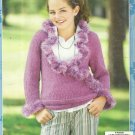 Knitting Patterns-Knit Tops For Girls-5 Fabulous Designs