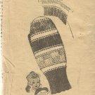 Vintage Alice Brooks-Knitted Mittens-Design  7088