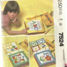 Vintage Craft Pattern-Soft Book Craft With Blue Transfer