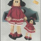 """Doll Pattern-17"""" & 8"""" Miss Lulu Doll by Keeping You In Stitches"""