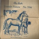 Vintage Embroidery Transfer Pattern-Alice Brooks Design-Horse & Colt