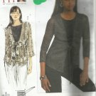 Vogue Pattern-Today's Fit by Sandra Betzina-Misses Cardigan & Top-Sizes OSZ