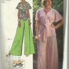 Vintage Pattern-Misses Super Jiffy Front Wrap Top And Wide Leg Pants- Sz 12