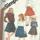 """Vintage Pattern-Girl's Set of Skirts in Two Lengths-Size 12, Waist 25 1/2"""""""