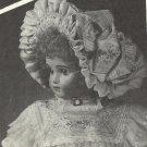 """Doll Dress Pattern-Bourgoin Bonnet Pattern for 16"""" Head Size of Doll"""
