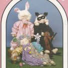 "Craft Pattern-Dream Spinners-Let's Pretend-32"" Doll With Costumes For Bunny-Cat"