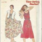 Vintage Pattern-Quick-Bonus Time-Saving Shortcut- Misses Vest & Dress-Size 10