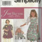 """Pattern-Just Like You-Child's Jumper & Blouse-Doll Dress For 18"""" Doll  3-4-5-6"""