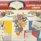 Vintage Superior Transfer Design-12 Motifs For Cloths-Scarfs-Linens