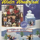 Plastic Canvas Pattern Booklet-Winter Wonderland-Draft Stopper-Match Box-Wreath