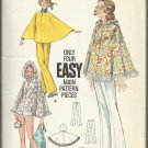 Vintage Pattern-Misses Cape & Pants-Size 14, Bust 36   Only 4 Easy Main Pieces