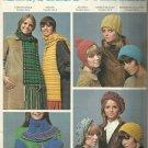 Vintage Knit-Crochet Patterns-Hats-Scarfs & Mittens-Berets-Helmet-Tartan Stole