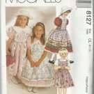 Pattern-Children's and Girl's Dress & Pinafore-Sizes 6-7-8  ~~SUMMER~~