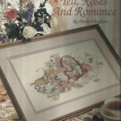 Cross Stitch Pattern Leaflet-Tea, Roses and Romance by Paula Vaughan-Leisure Art