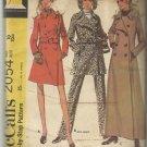 Vintage Pattern- Misses Coat in Two Lengths-Pantsuit-Size 10