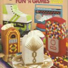 Plastic Canvas Patterns-Fun N Games Tissue Box Covers