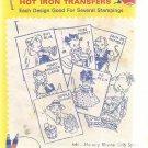 Vintage Aunt Martha's Hot Iron Transfers-Nursery Rhyme Crib Spread