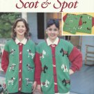 Cross Stitch Pattern Pamphlet-Scot & Spot-Just Cross Stitch by Charlotte Holder
