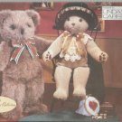 """Vogue Craft Bear Doll Pattern-LINDA CARR-Two 20"""" Bears With Hat & Collar"""