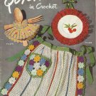 Vintage Crochet Pattern Booklet-Quick Tricks In Crochet-Aprons-Kitchen Accents