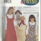 "Pattern--Child's Jumper & Blouse-Sz 4-5-6 & Matching Dolls Clothes For 18"" Doll"