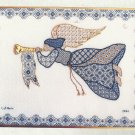 Cross Stitch Pattern-Blue & Gold Angel by Laura Perin Designs