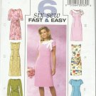 Butterick Pattern-Six Sew Fast & Easy-Misses Dress in Sizes 8-10-12-14   Summer