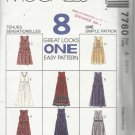 McCall's Pattern-8 Great Looks ONE Easy Pattern-Misses Jumper in Two Lengths-Sz 6-8-10