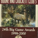 24th Big Game Awards 1998-2000 by Boone and Crockett Club's