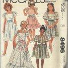 Vintage Pattern-Girl's Dress & Tie Belt In Size 10- Classic SUMMER Dress