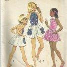 Vintage Simplicity Pattern-Girl's Mini Halter Dress & Shorts in Size  7