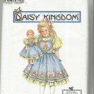 """Daisy Kingdom Pattern-Child's Dress & Pinafore & Doll Dress 17"""" Doll  Sz 5-6-7-8"""