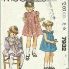 Vintage Pattern-Toddlers Dress-Pinafore or Sundress & Blue Transfer -Size 1