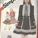 Simplicity Pattern-Gunne Sax-Girl's Skirt-Blouse & Self Or Pre-Quilted Jacket-12