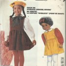 Easy McCall's Pattern-Serger Sewing-Children's Jumper & Blouse- Sz 4-5-6