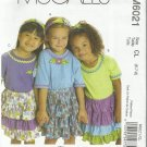 McCall's Pattern-Whistlepeg Creek-Girl's Skirt-Headband-Appliques-Sz 6-7-8