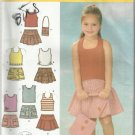 Simplity Pattern-In K Designs-Child's Shorts-Skirt-Bag & Knit Tops-Sz 3-4-5-6