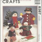 "Christmas Craft Pattern-Snow Family-20"" & 13"" Snowman Dolls & Clothes"