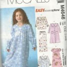 McCall's Easy Options Pattern-Child's Robe-Nightgown-Top- Pants  Sz 2-5 Christma
