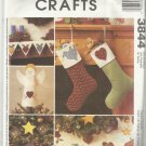 Christmas In July-McCall's Crafts-Holiday Stitchery Decorating-Ornaments-Tree Sk