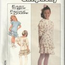 Simplicity Pattern-Easy to Sew-Girl's Two Piece Knit Dress  Sz7+8+10+   SERGER