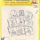 Embroidery Patterns-Aunt Martha's Hot Iron Transfer-Ducky Ducks-Several Stamping