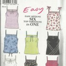 New Look Pattern-Easy Options Six Top Variations in One Pattern-Sizes6-16
