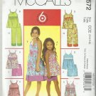 6 Great Looks One Easy Pattern-Children's Tops-Dresses-Shorts-Pants -Sz 3-6