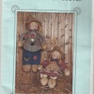 Bonnie B Buttons Doll Pattern-Mr. & Mrs. Scarecrow Dolls & Clothes   FALL