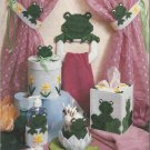 Plastic Canvas Pattern Booklet-Bathroom Frogs-8 Projects Too Cute!!!!
